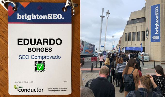 Entrada do evento brightonSEO